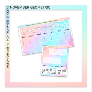 HOBONICHI WEEKS | MONTHLY PAGES | November Geometric