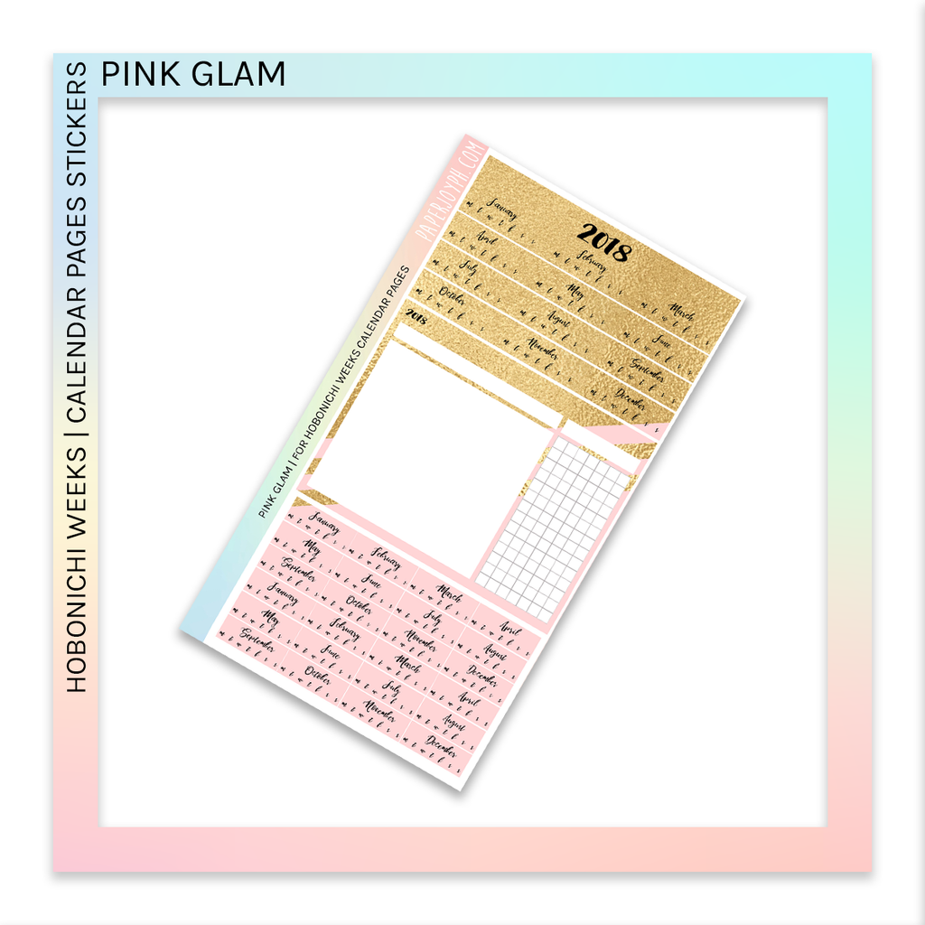 HOBONICHI WEEKS | CALENDAR PAGES | Pink Glam