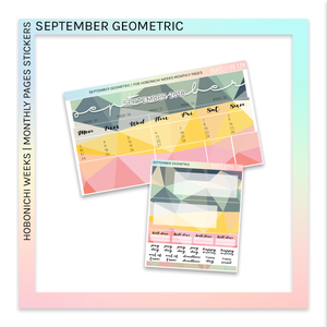 HOBONICHI WEEKS | MONTHLY PAGES | September Geometric