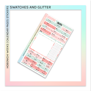 HOBONICHI WEEKS | CALENDAR PAGES | Swatches and Glitter