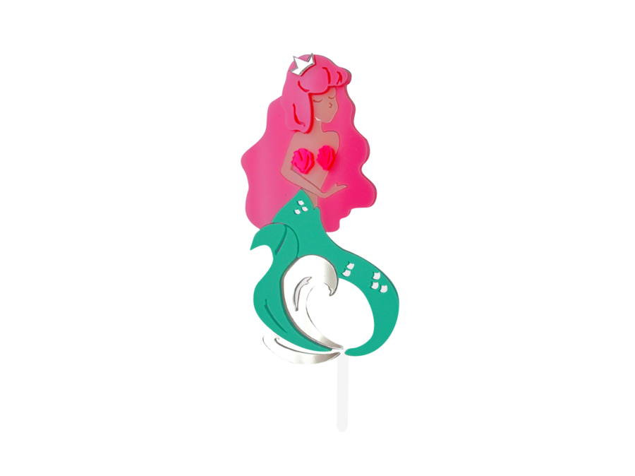 MISS MERMAID CAKE TOPPER