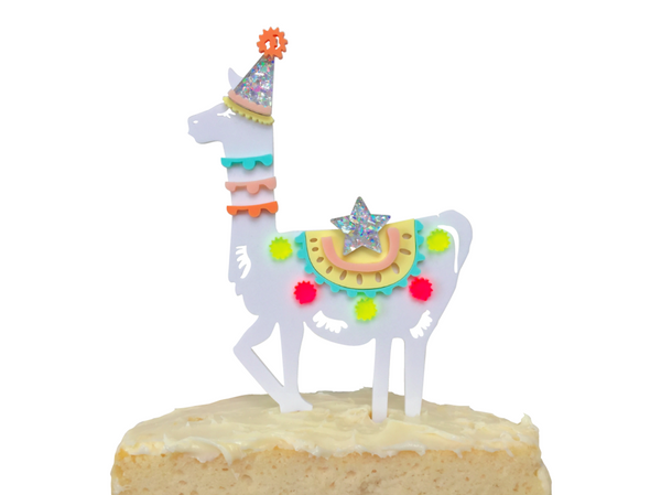 PARTY LLAMA CAKE TOPPER