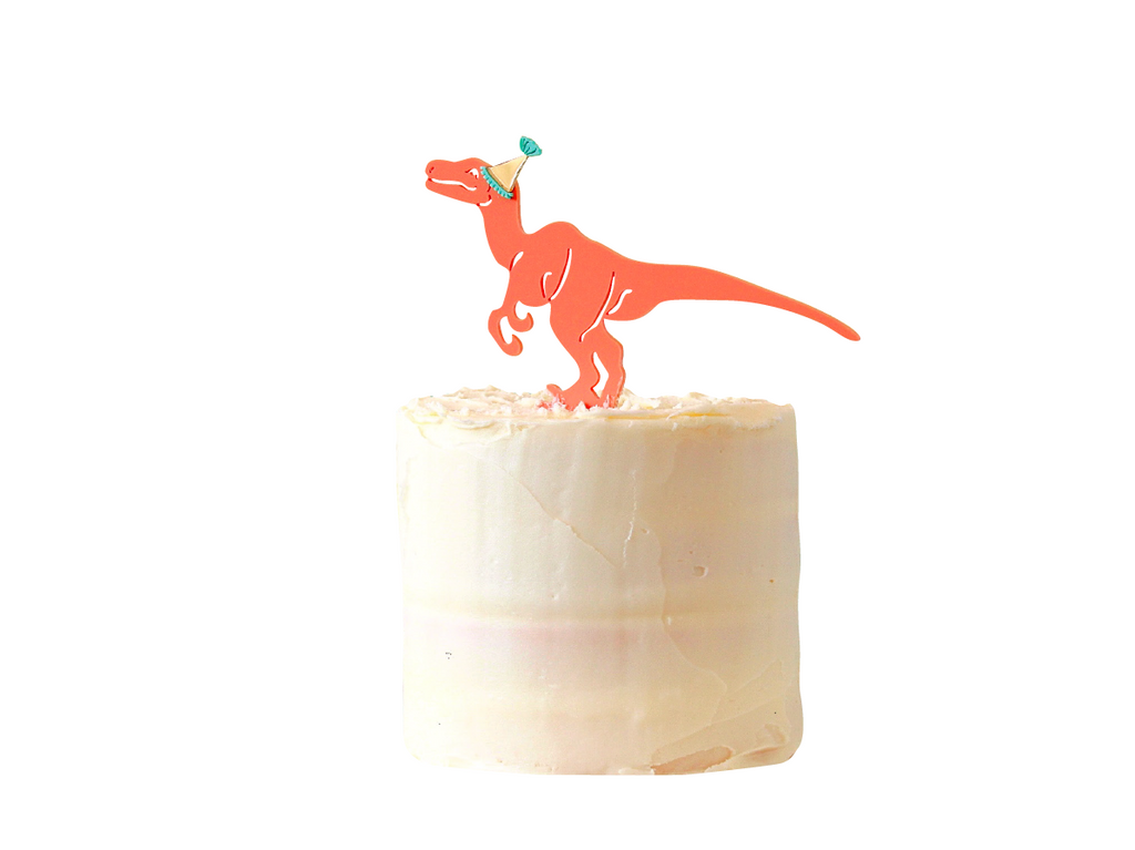 PARTY DINO CAKE TOPPER
