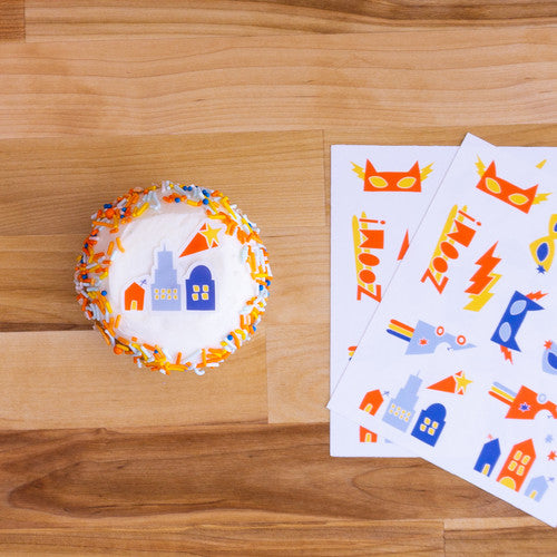 SUPERHERO Stickies® | Edible Decorating Stickers