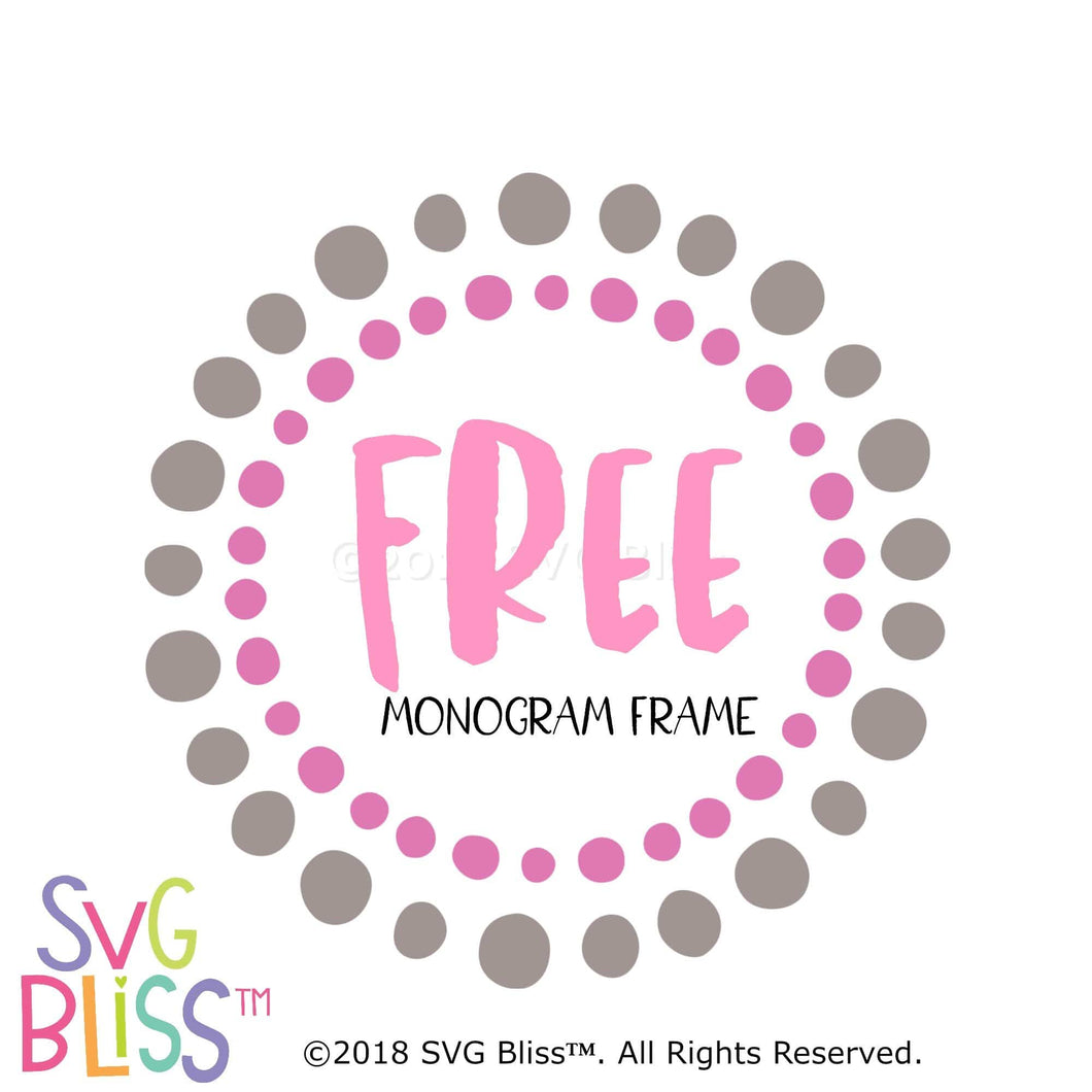 FREE Circle Wreath Monogram Frame SVG DXF - SVG Bliss