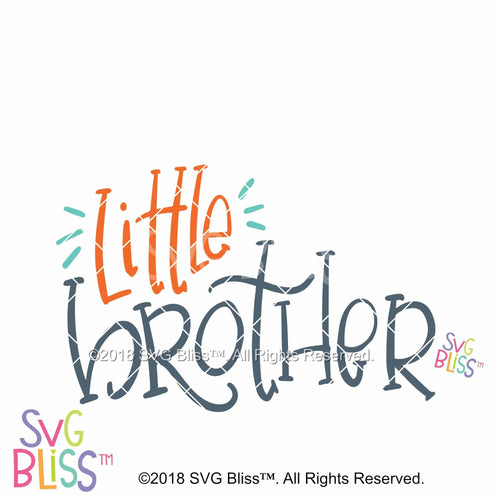 Little Brother | SVG EPS DXF PNG - SVG Bliss