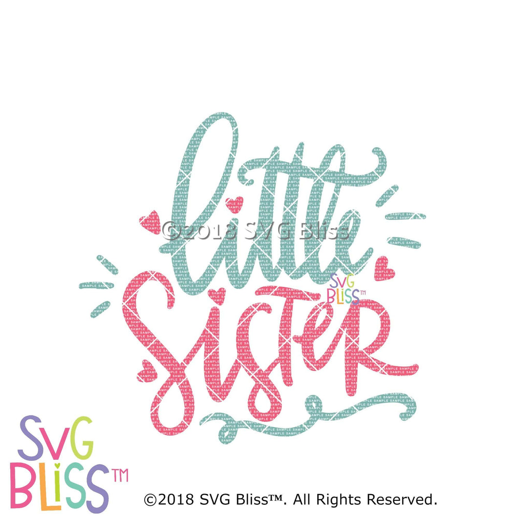 Purchase Little Sister SVG DXF $3.99 ©SVG Bliss™