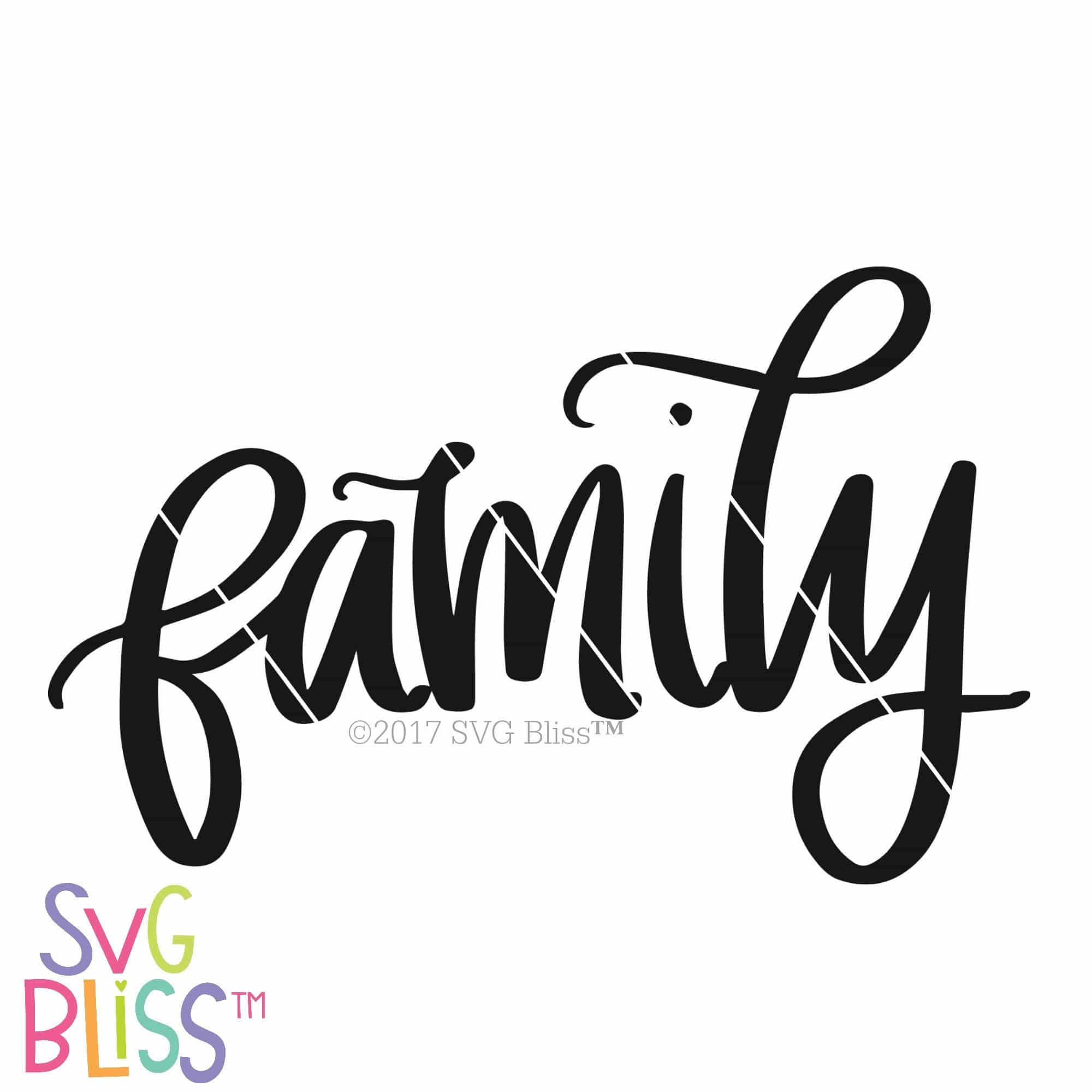 Family | SVG EPS DXF PNG - SVG Bliss