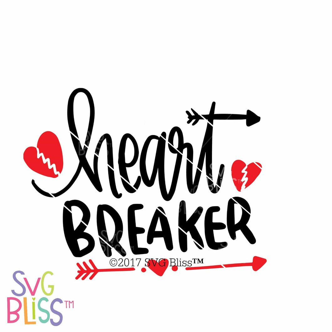 Heart Breaker | SVG EPS DXF PNG - SVG Bliss
