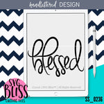 Blessed | SVG EPS DXF PNG - SVG Bliss