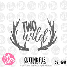 Two Wild | SVG EPS DXF PNG - SVG Bliss
