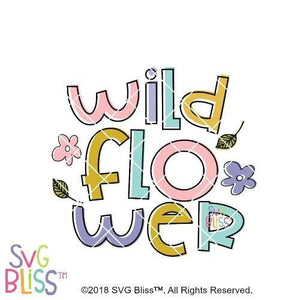 Wildflower SVG DXF - SVG Bliss