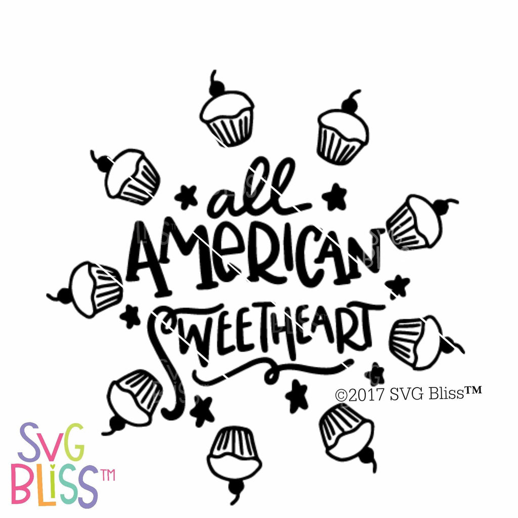 All American Sweetheart | SVG EPS DXF PNG