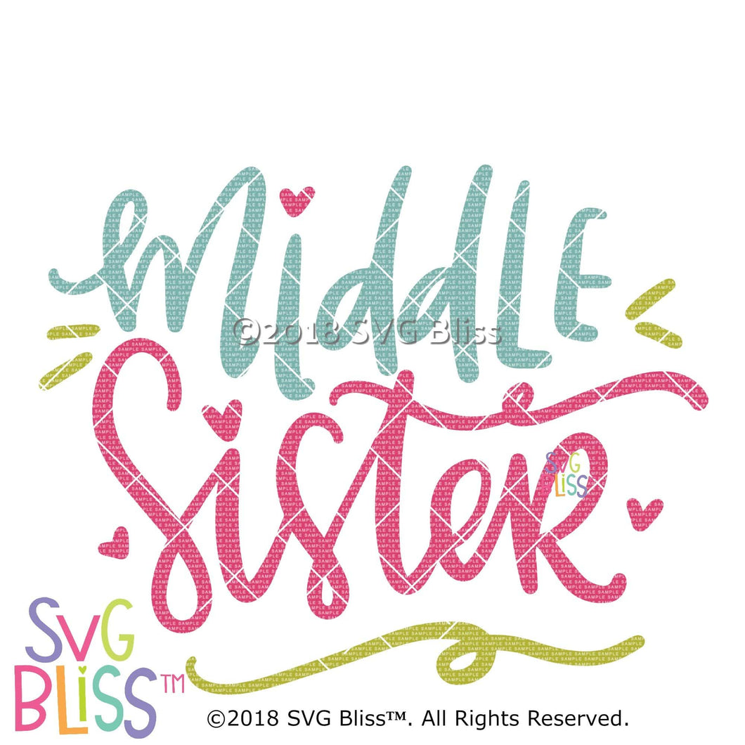 Middle Sister SVG DXF - SVG Bliss