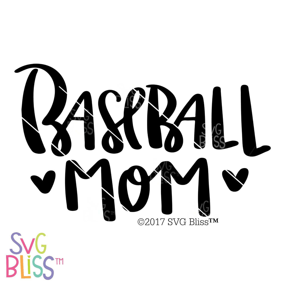 Baseball Mom SVG DXF