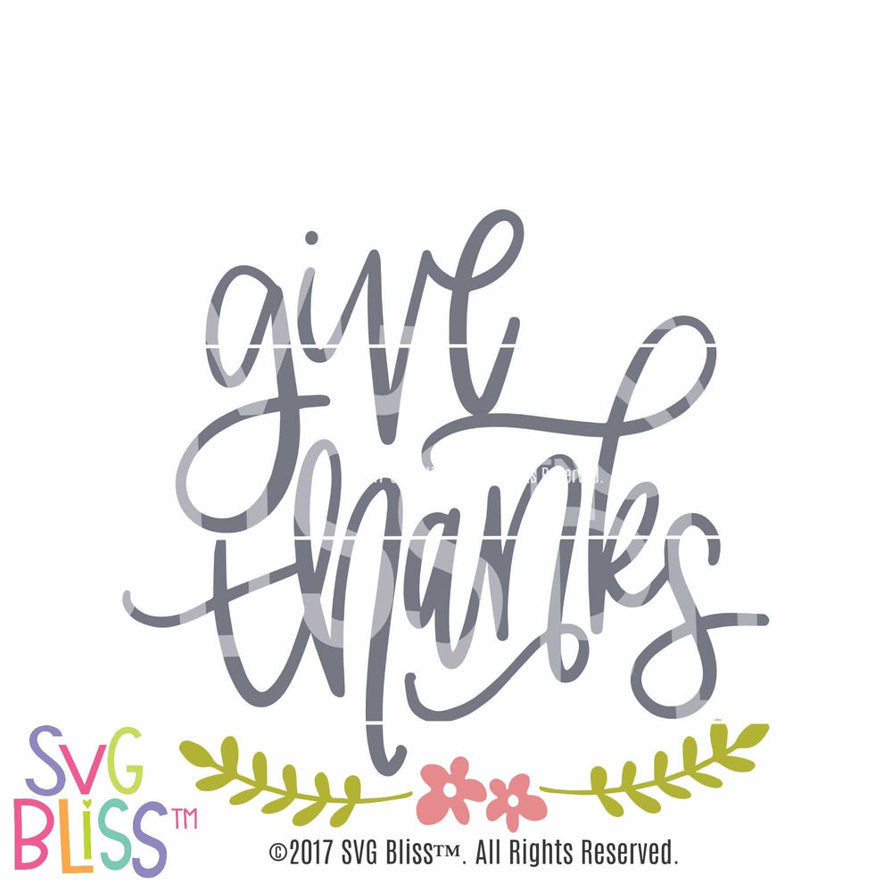 Give Thanks - SVG Bliss