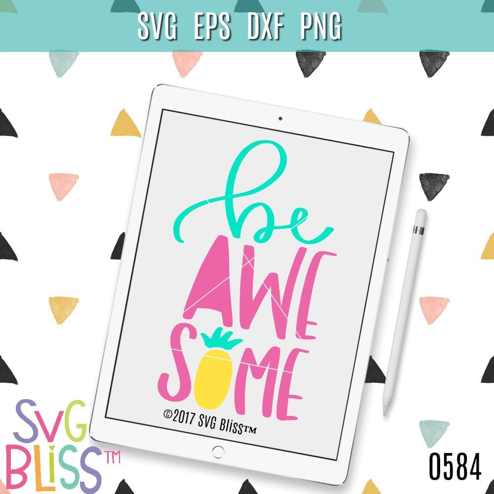 Be Awesome SVG DXF - SVG Bliss