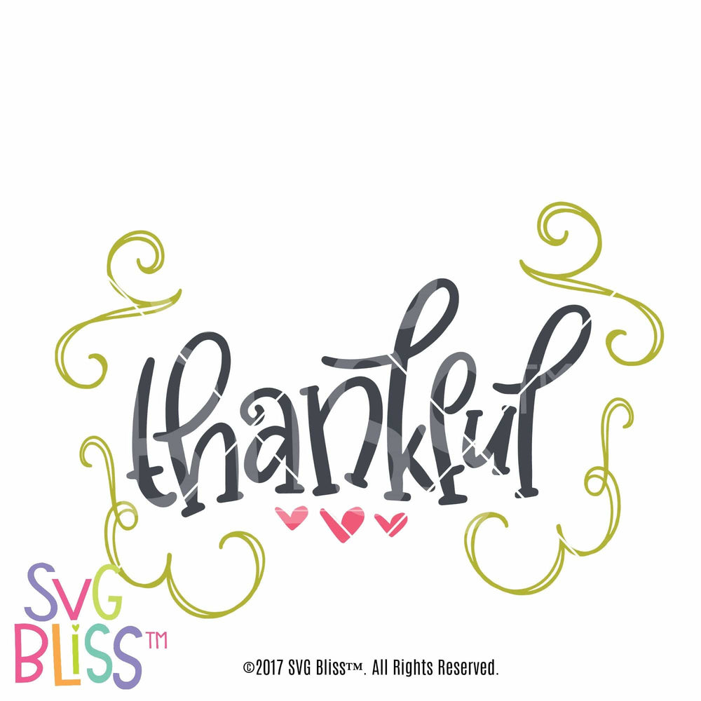 Thankful SVG DXF Cutting File Digital Download SVG Bliss
