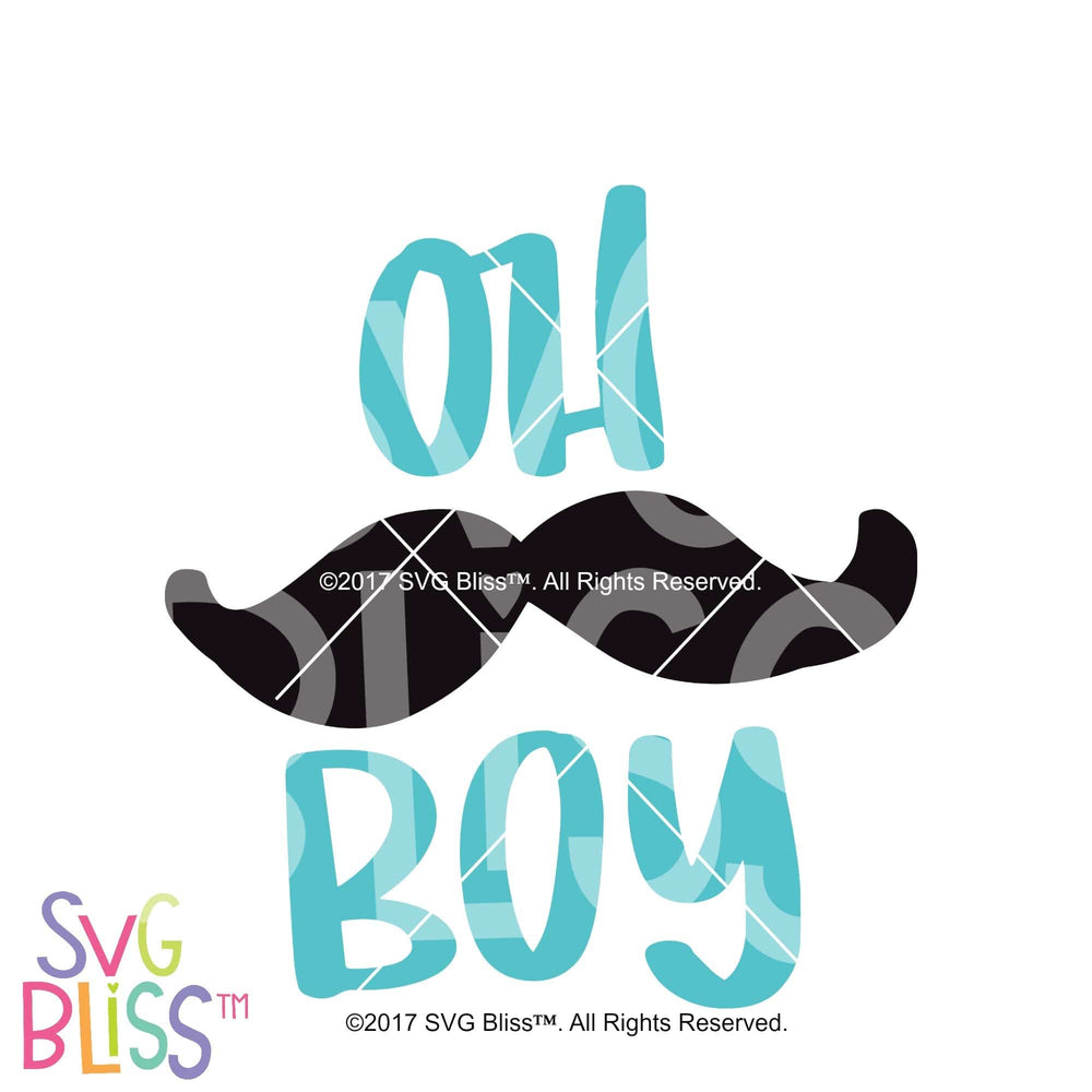 Oh Boy- SVG, EPS, DXF Cutting File - SVG Bliss