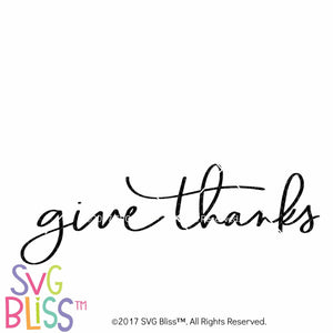 Purchase Give Thanks- SVG EPS DXF $3.25 ©SVG Bliss™