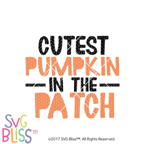 Cutest Pumpkin in the Patch- SVG EPS DXF Cutting File - SVG Bliss