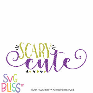 Scary Cute- SVG EPS DXF Cutting File - SVG Bliss