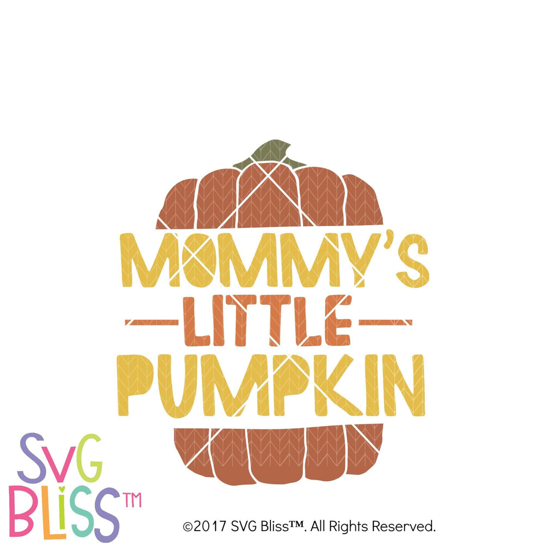 Mommy's Little Pumpkin- SVG EPS DXF Cutting File - SVG Bliss