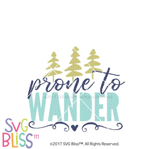 Prone  to Wander- SVG EPS DXF Cutting file - SVG Bliss
