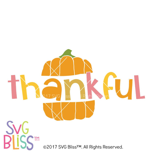 Thankful- SVG EPS DXF - SVG Bliss