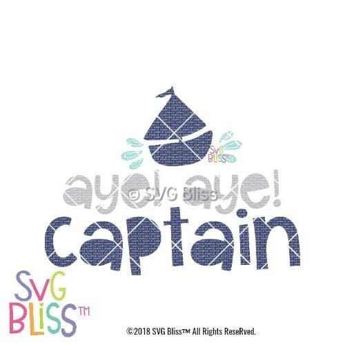 Aye Aye Captain SVG DXF - SVG Bliss