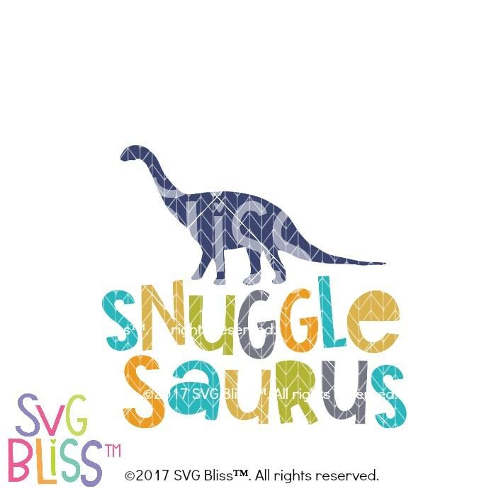 Snugglesaurus- SVG  DXF - SVG Bliss