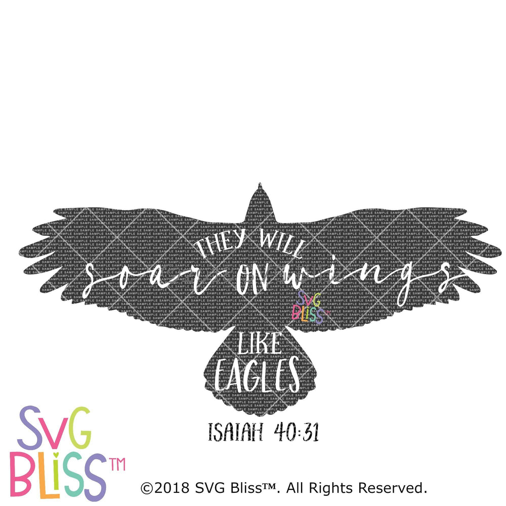 Soar on Wings Like Eagles SVG DXF - SVG Bliss