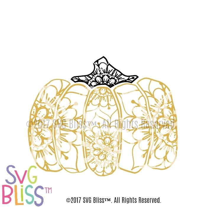 Pumpkin Mandala SVG DXF EPS Cutting File for Cricut & Silhouette Crafters by SVG Bliss.