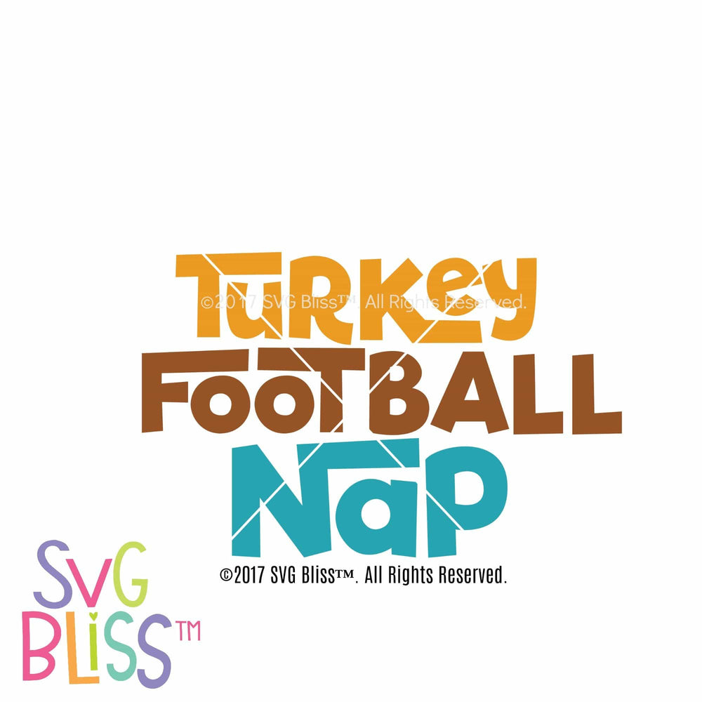Turkey Football Nap- SVG EPS DXF