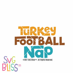 Turkey Football Nap- SVG EPS DXF - SVG Bliss