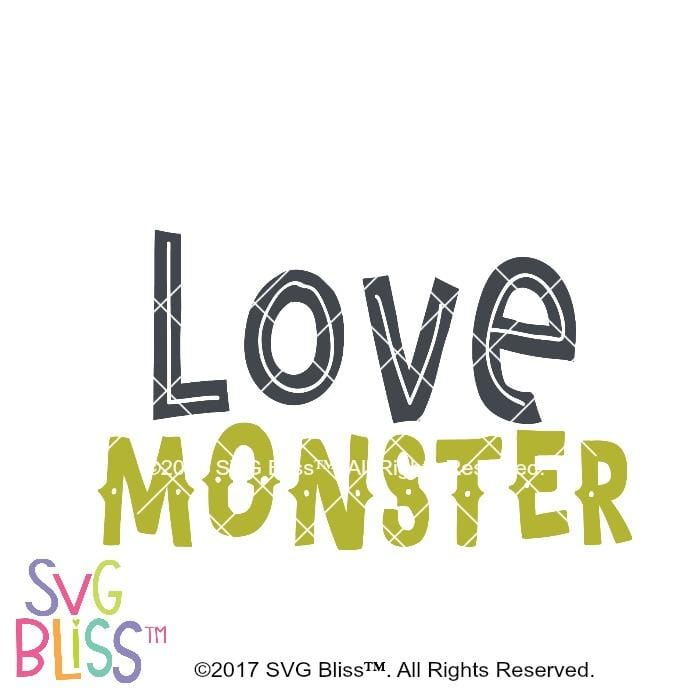 Love Monster- SVG EPS DXF - SVG Bliss