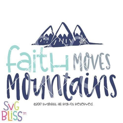 Faith Moves Mountains SVG DXF