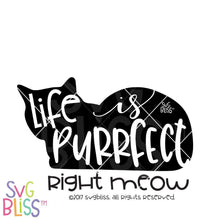 Life is Purrfect Right Meow SVG DXF - SVG Bliss