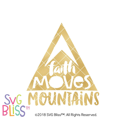 Faith Moves Mountains SVG DXF - SVG Bliss