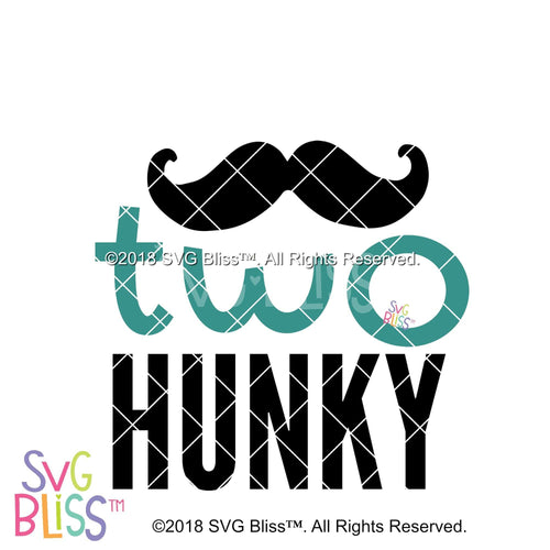 ©2018 SVG Bliss. Two Hunky SVG Cutting File. Cricut & Silhouette Compatible