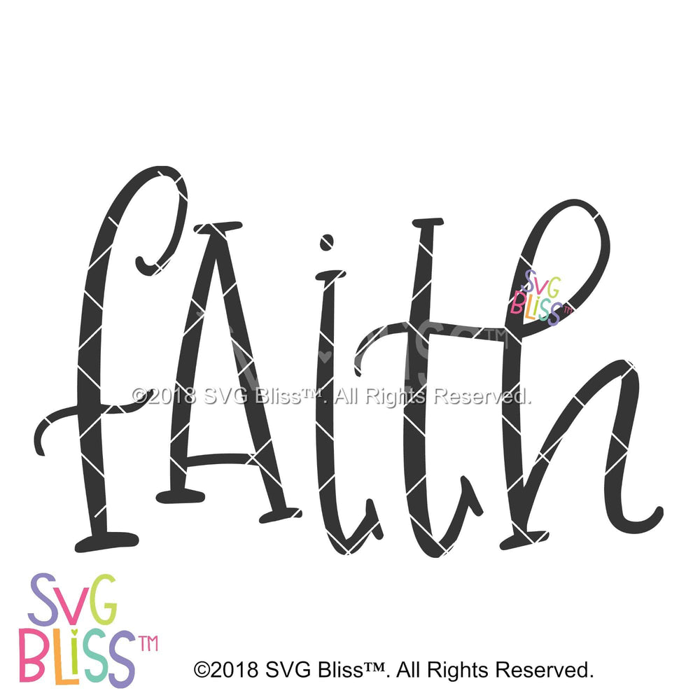 Faith SVG DXF - SVG Bliss