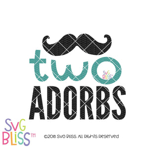 Two Adorbs SVG DXF, Cricut & Silhouette Cutting file, SVG Bliss