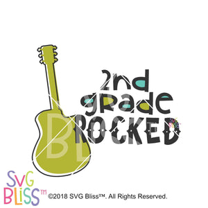 2nd Grade Rocked SVG DXF - SVG Bliss