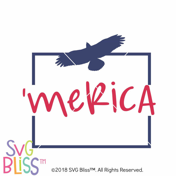 Purchase Merica SVG DXF $3.25 ©SVG Bliss™