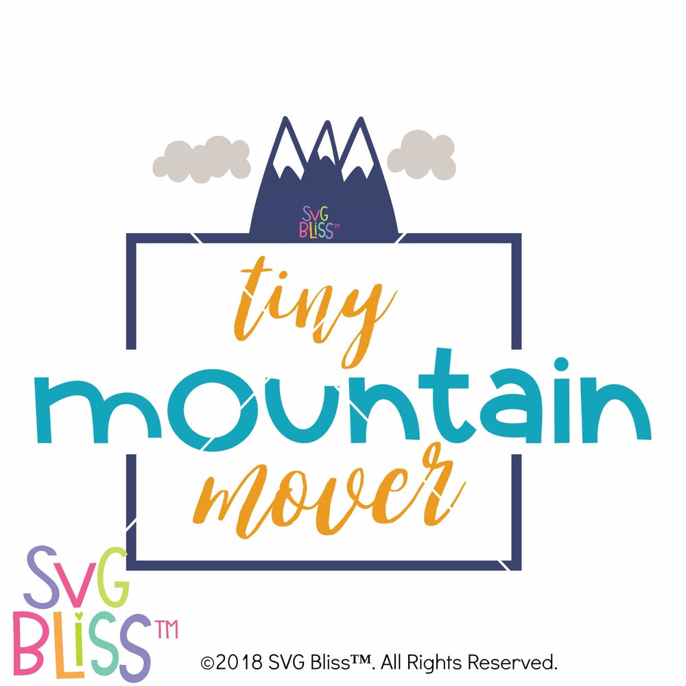 Tiny Mountain Mover SVG DXF - SVG Bliss