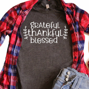 Purchase Grateful Thankful Blessed SVG & DXF $3.99 ©SVG Bliss™