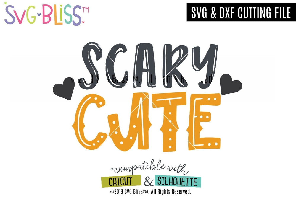 Scary Cute SVG DXF Halloween Cutting File for Cricut & Silhouette. Purchase & Download from SVG Bliss.