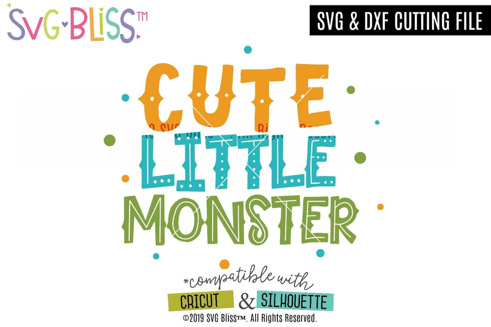 Cute Little Monster SVG DXF