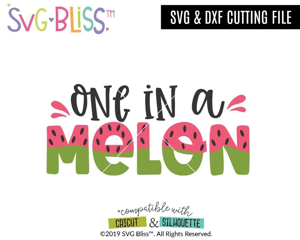 One in a Melon SVG DXF Cutting File Design By SVG Bliss