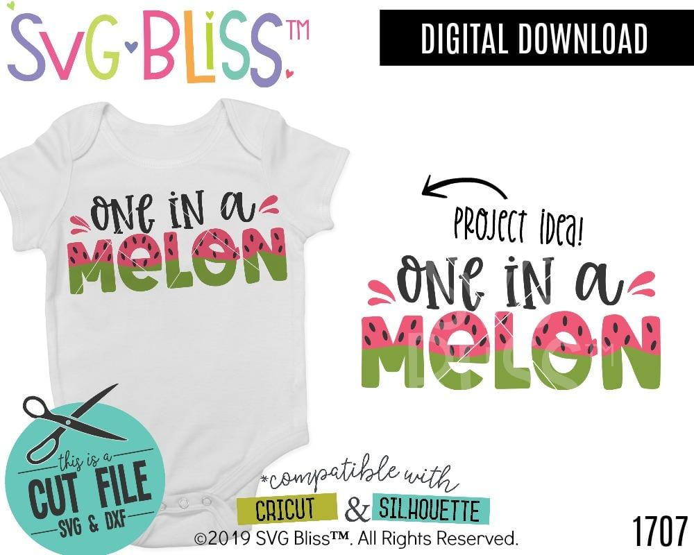 One in a melon SVG DXF Cut File Design by SVG Bliss